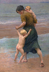 Into The Water 1898 By Virginie Demont Breton