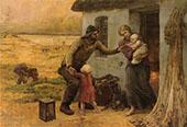 Le Foyer 1893 By Virginie Demont Breton