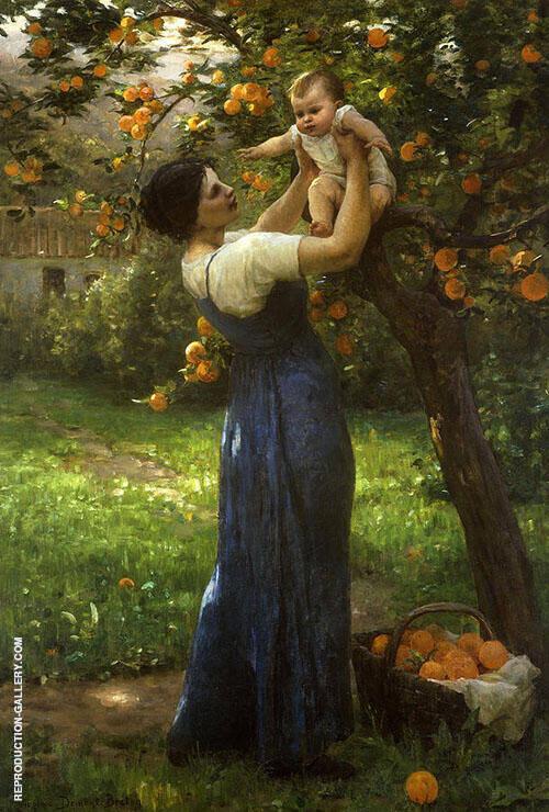 Mere Et Enfant Dans Le Jardin By Virginie Demont Breton