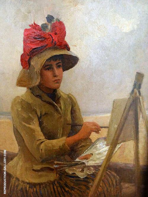 Portrait of Marie Duhem Detail 1889 By Virginie Demont Breton