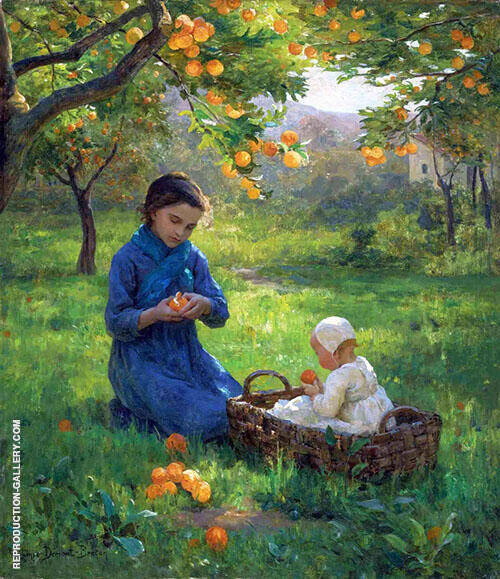 Under Orange Tree By Virginie Demont Breton