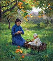Under Orange Tree By Virginie Demont Breton