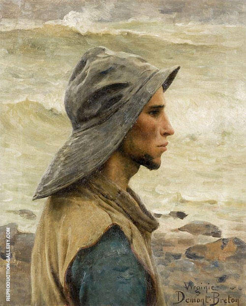 Young Fisherman By Virginie Demont Breton