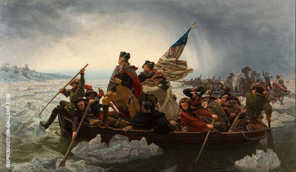 Washington Crossing the Delaware 1851 Painting By Emanuel Leutze