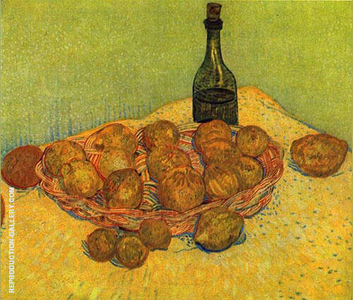 Still Life with a Bottle of Lemons and Oranges By Vincent van Gogh