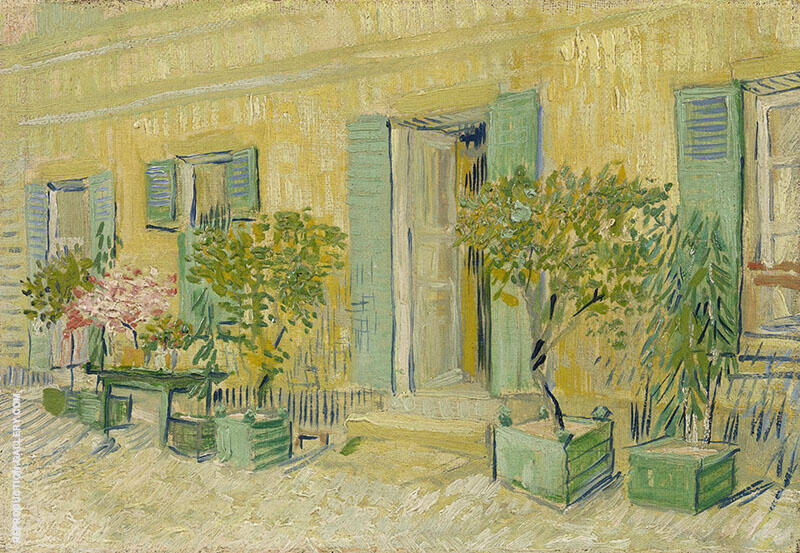 Exterior of a Restaurant at Asnieres By Vincent van Gogh