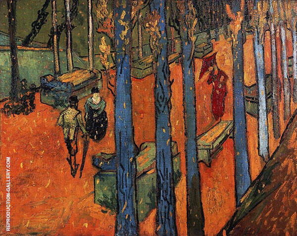 Falling Autumn Leaves 1888 By Vincent van Gogh