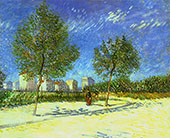 On The Outskirts of Paris By Vincent van Gogh