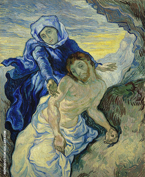 Pieta After Delacroix 1889 By Vincent van Gogh