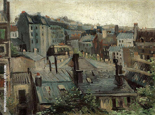 Roofs in Paris 1886 Painting By Vincent van Gogh - Reproduction Gallery