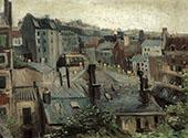 Roofs in Paris 1886 By Vincent van Gogh