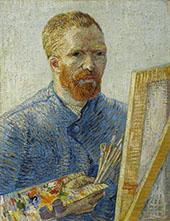 Self Portrait with Easel Paris Winter 1887 By Vincent van Gogh