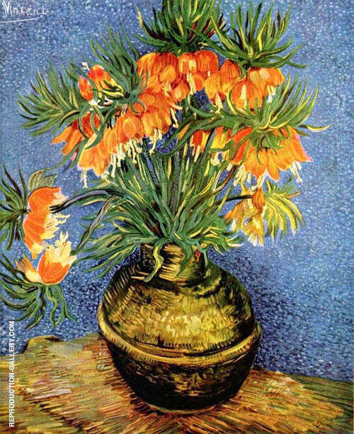 Still Life with Imperial Crowns in a Bronze Vase By Vincent van Gogh