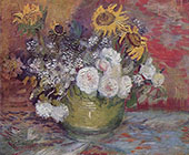 Still Life with Roses and Sunflowers By Vincent van Gogh