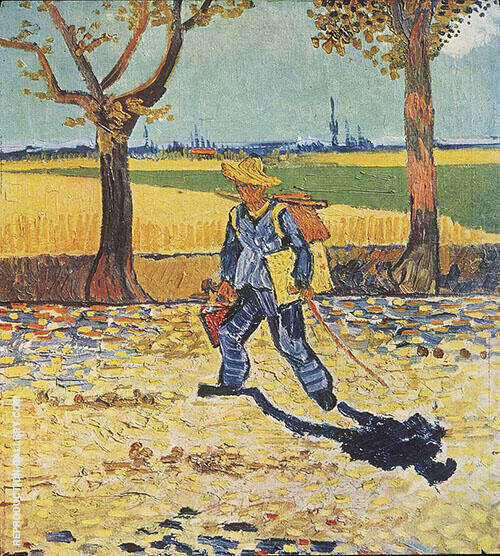 The Painter on His Way to Work 1888 By Vincent van Gogh