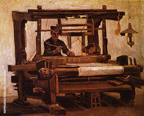 Weaver at The Loom 1884 Painting By Vincent van Gogh