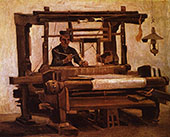 Weaver at The Loom 1884 By Vincent van Gogh