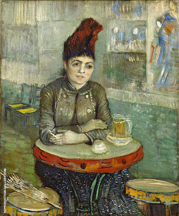 Agostina Segatori at The Cafe Du Tambourin 1887 By Vincent van Gogh