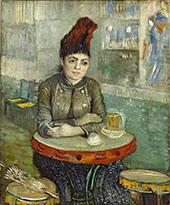 Agostina Segatori at The Cafe Du Tambourin 1887 By Vincent van Gogh