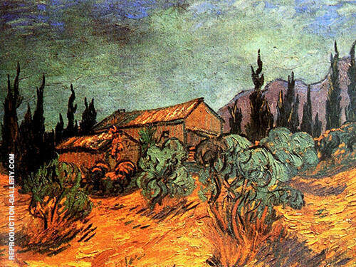 Wooden Sheds 1889 By Vincent van Gogh