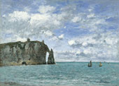 Etretat The Cliff of Aval By Eugene Boudin