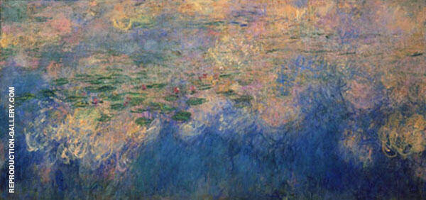 Reflections of Clouds on the Water-Lily Pond Centre Panel By Claude Monet