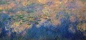 Reflections of Clouds on the Water-Lily Pond Center Panel By Claude Monet