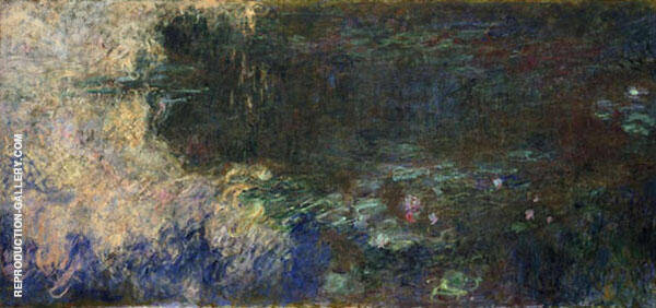 Reflections of Clouds on the Water-Lily Pond Right Panel By Claude Monet
