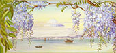 Distant View of Mount Fujiyama Japan and Wistaria 1876 By Marianne North