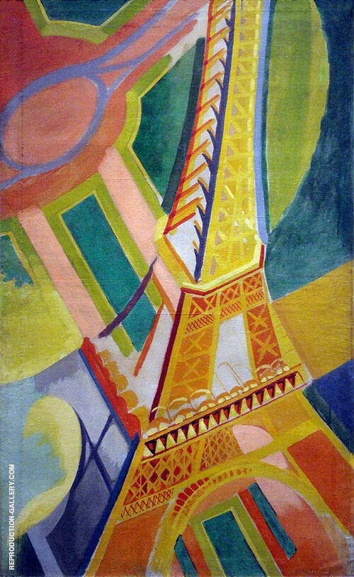 Eiffel Tower 1926 Painting By Robert Delaunay - Reproduction Gallery