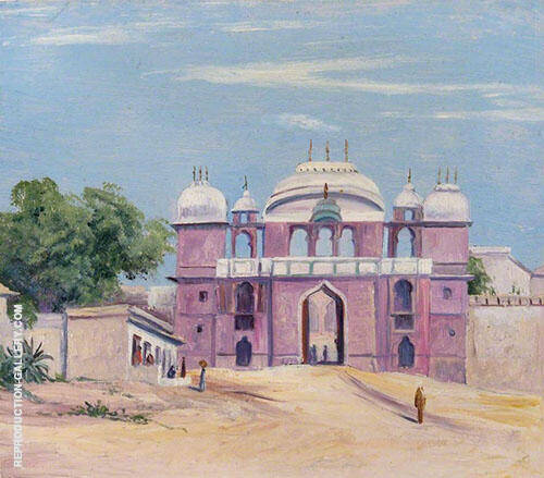 Gate of Rajah s Palace Benares India 1880 By Marianne North