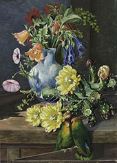 Group of Flowers Painted in Teneriffe By Marianne North