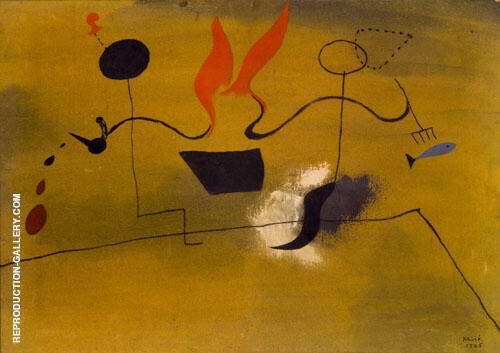 The Farmer's Meal 1925 Painting By Joan Miro - Reproduction Gallery