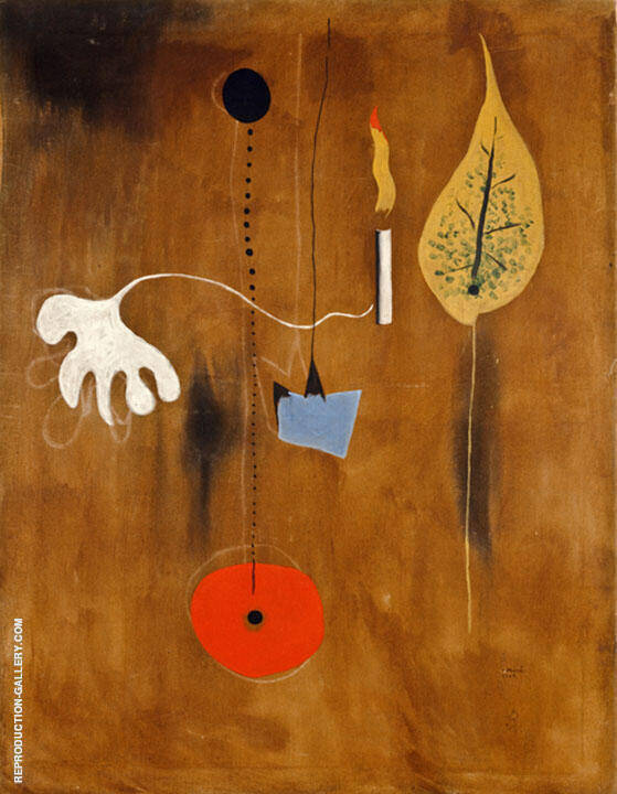 Man with Candle 1925 Painting By Joan Miro - Reproduction Gallery