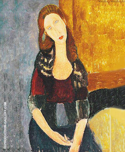 Jean Hebuterne Sitting 1918 Painting By Amedeo Modigliani