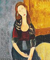 Jean Hebuterne Sitting 1918 By Amedeo Modigliani