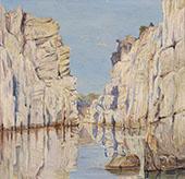 Marble Rocks Jabalpur Madhya Pradesh India 1878 By Marianne North