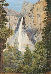 Rainbow over The Bridal Veil Fall Yosemite California By Marianne North