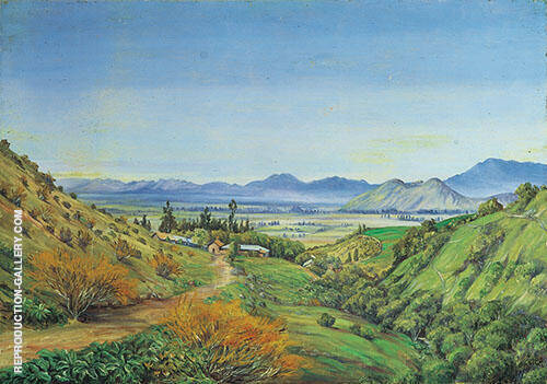Santiago Desde Apoquindo 1887 By Marianne North