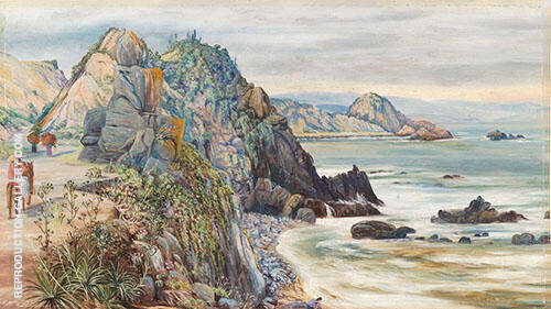 Sea Shore Near Valparaiso Chili 1880 By Marianne North