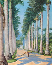 Side Avenue of Royal Palms at Botafoga Brazil 1880 By Marianne North