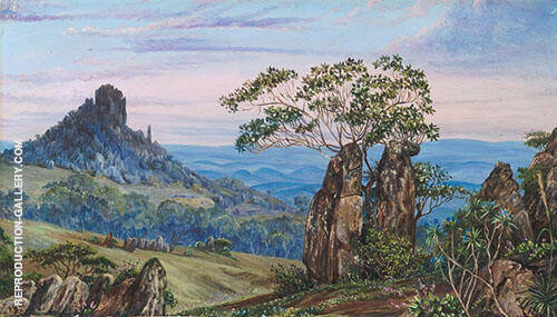 The Iron Rocks of Casa Branca Brazil 1880 Painting By Marianne North