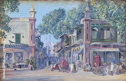 The Street of Blood Delhi 1880 By Marianne North