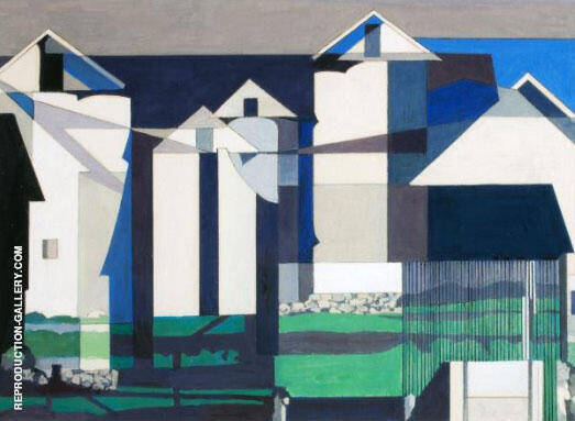 On a Connecticut Theme c 1958 Painting By Charles Sheeler