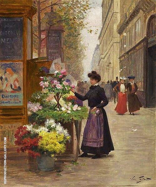 A Flower Seller By Victor Gabriel Gilbert