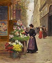 A Flower Seller By Victor Gabriel Gilbert