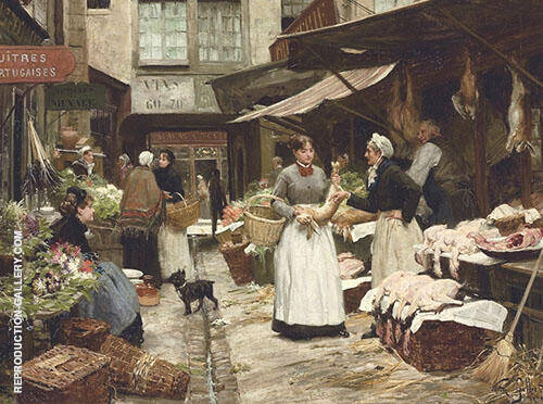Market Day By Victor Gabriel Gilbert
