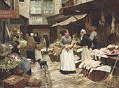 Market Day By Victor Gabriel Gilbert