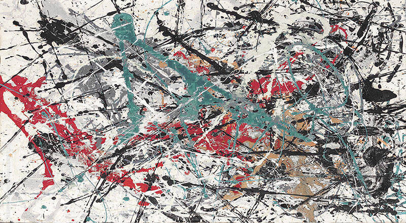 Inspired by, Landscape No 3 Painting By Jackson Pollock