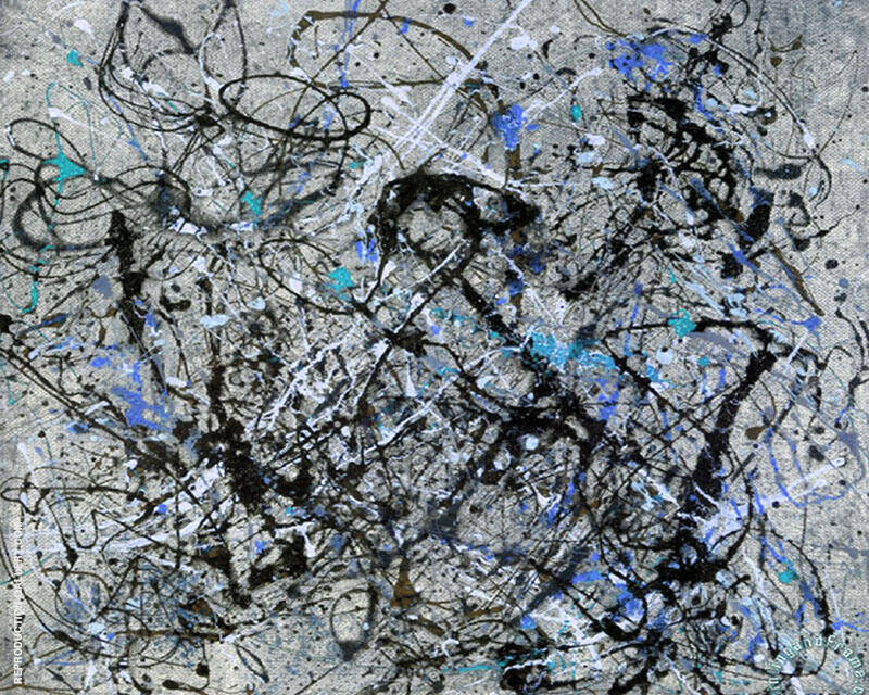 Inspired by, Landscape with Blue By Jackson Pollock